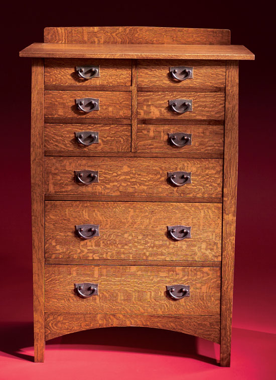 Stickley Style Chest Of Drawers