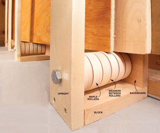Rollers Ease Plywood Storage | Popular Woodworking Magazine