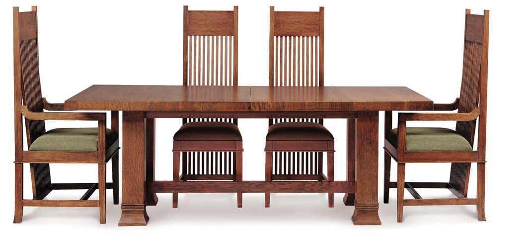 These Chairs And The Extension Table Were Designed For Susan Lawrence Dana  In 1902. Pictured