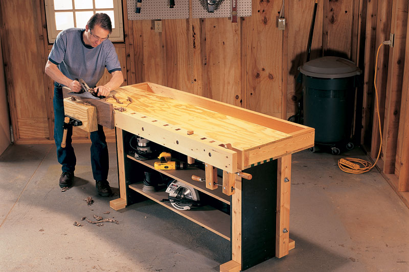 Tom S Torsion Box Workbench Popular Woodworking Magazine