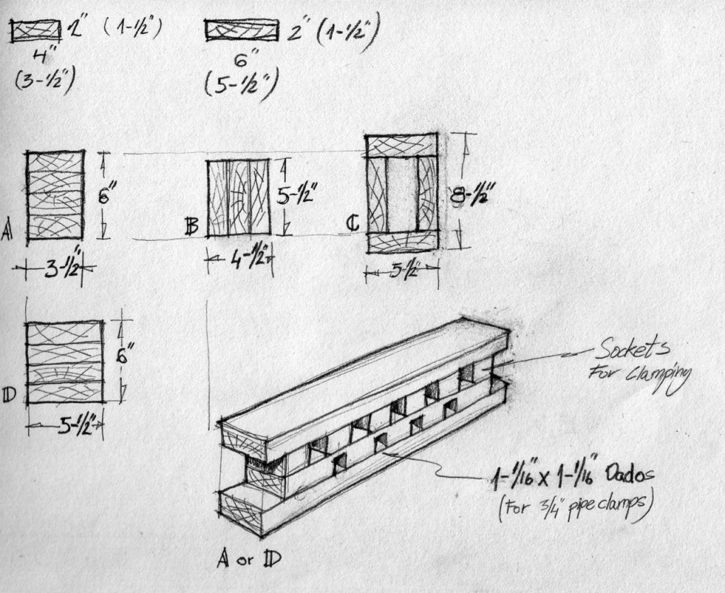 Here are a few Bench Bull build up configurations using 2x4, or 6x4 dimensional lumber available in any home improvement center.