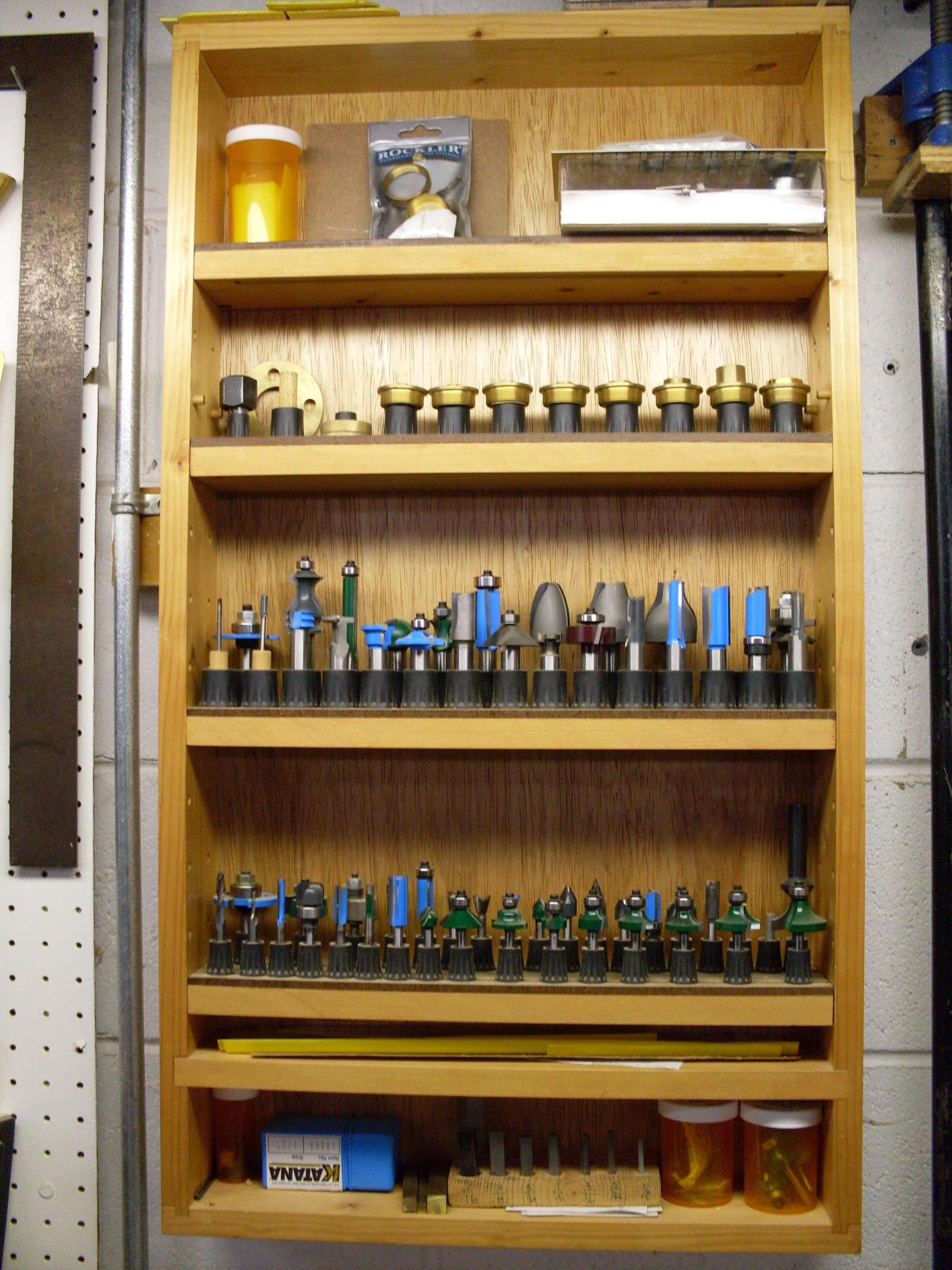 Woodworker S Solutions To Router Bit Storage Popular
