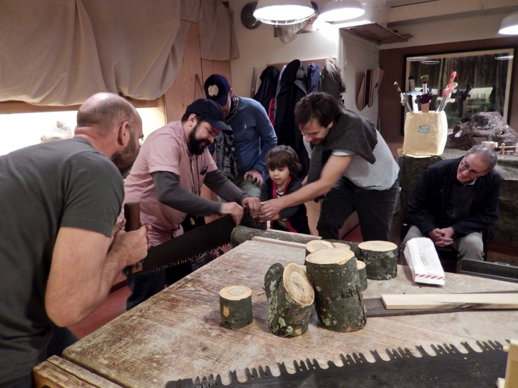 Our log sawing contest