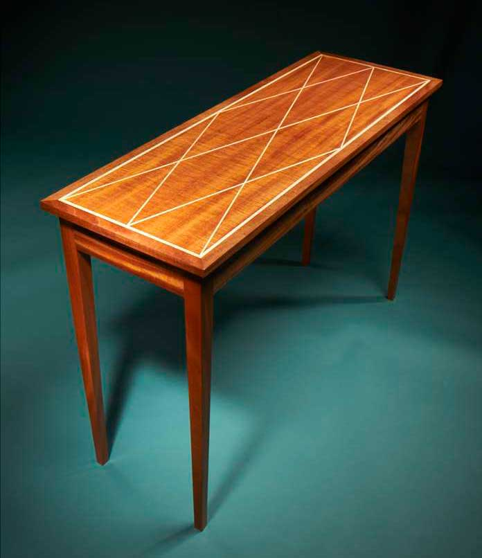 Aw Extra 5 8 14 Diamond Inlay Table Popular Woodworking Magazine