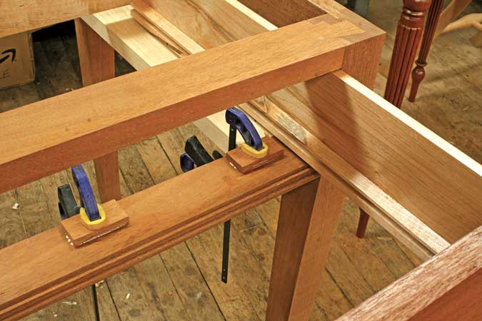 dovetailed drawer stops