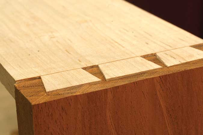 dovetailed drawers proud tails