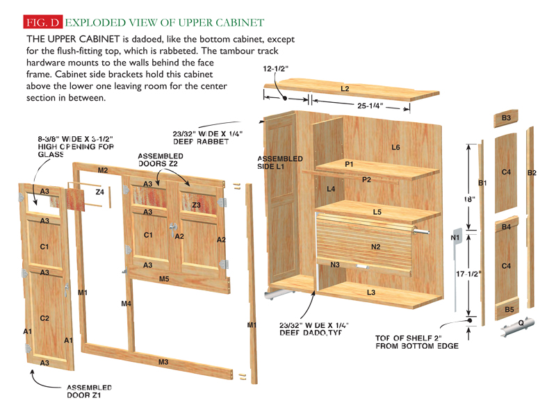 Fig D Exploded View Of Upper Cabinet