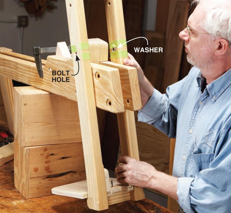 Aw Extra Hybrid Shaving Horse Popular Woodworking Magazine