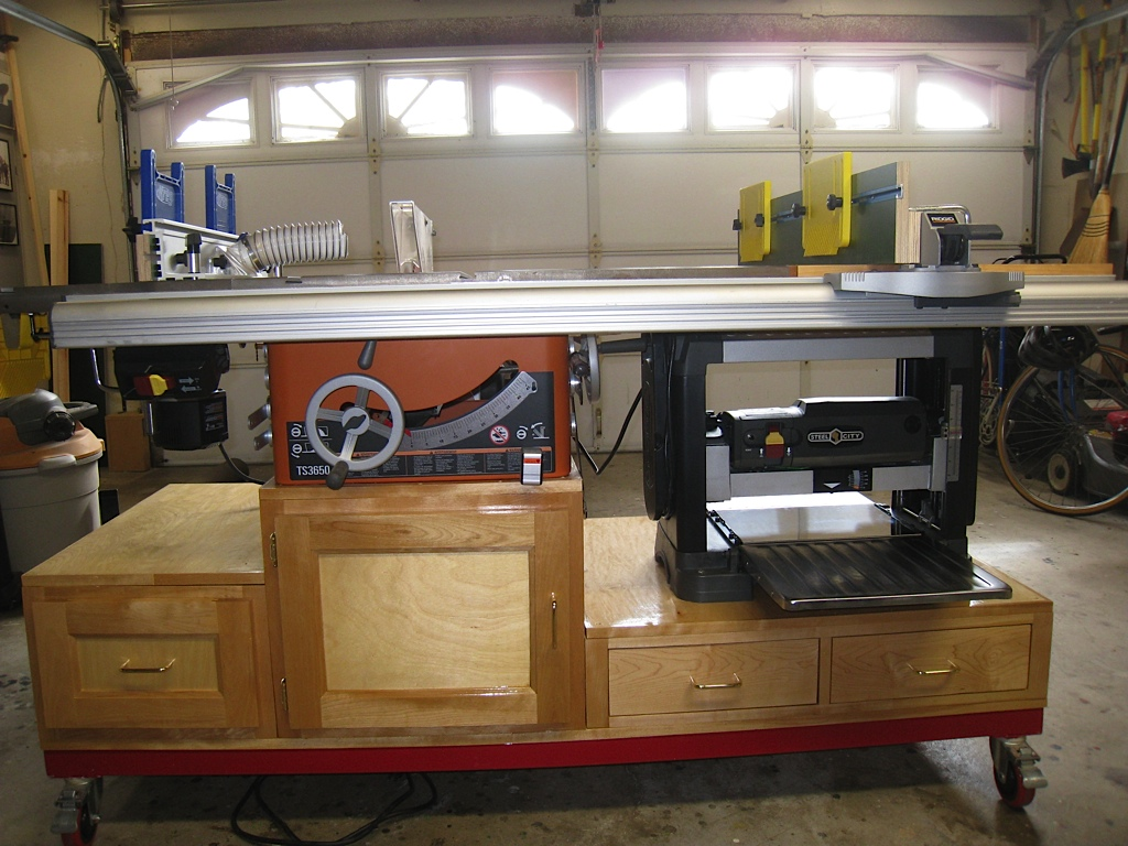 Self Containted Tablesaw Router And Planer Workstation