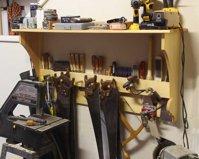 french tool rack moulded sides