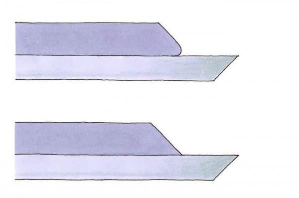 illustration of lever cap flattening