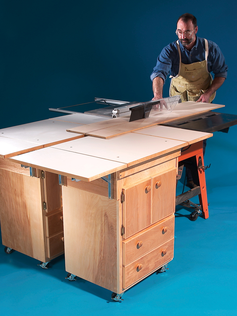 Mobile Outfeed Tables Popular Woodworking Magazine