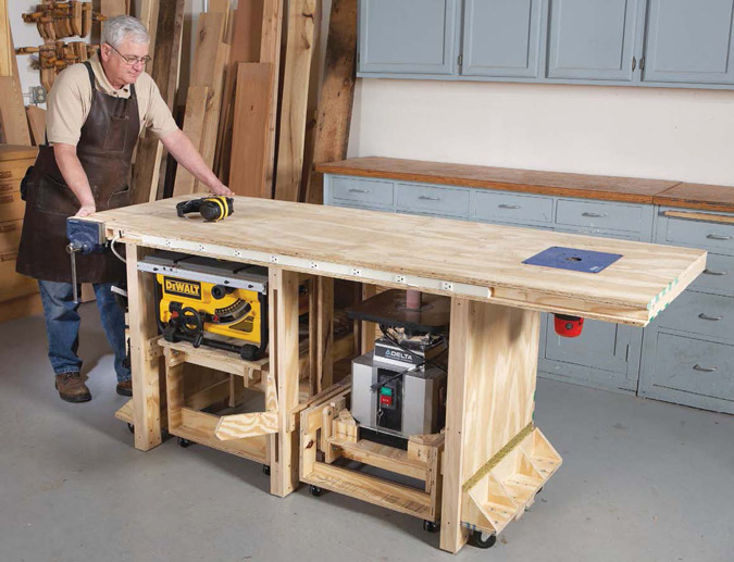 Power Tool Friendly Bench By Richard Tendick Popular