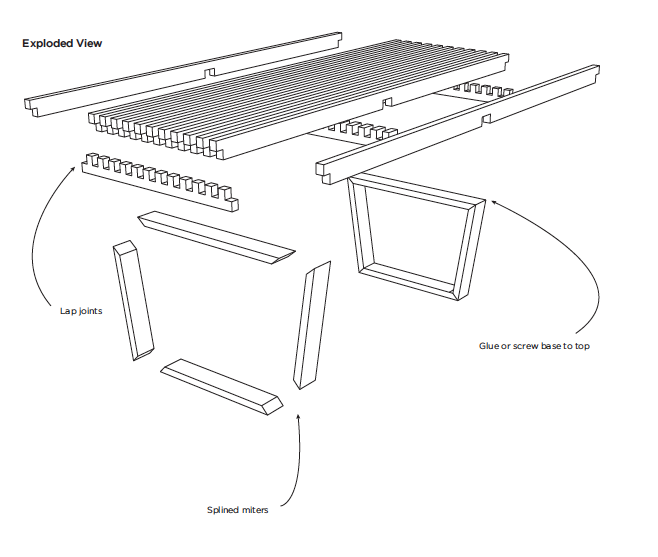 Platform Bench Exploded View