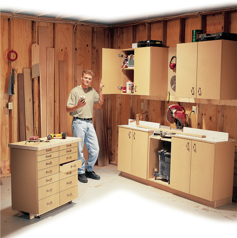Simple All Purpose Shop Cabinets Popular Woodworking Magazine