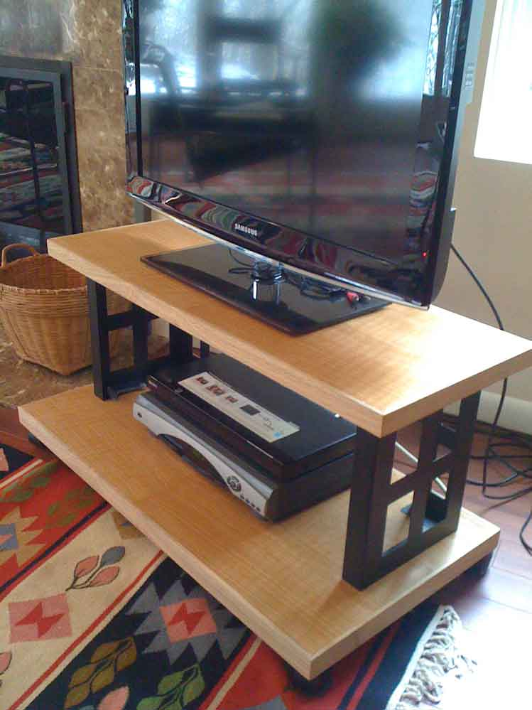 build a flat screen tv stand in a weekend. Black Bedroom Furniture Sets. Home Design Ideas