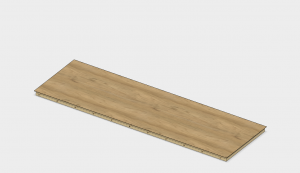 When you have the veneer in position, remove one dowel at a time. Start from one end and work toward the other.