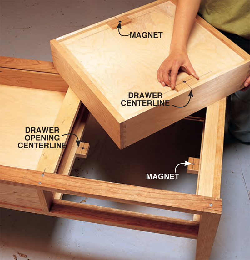 How To Build A Table With Drawers