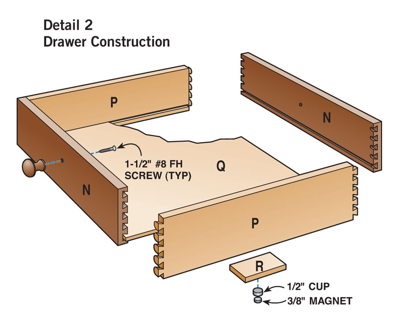 Two-Drawer Coffee Table | Popular Woodworking Magazine