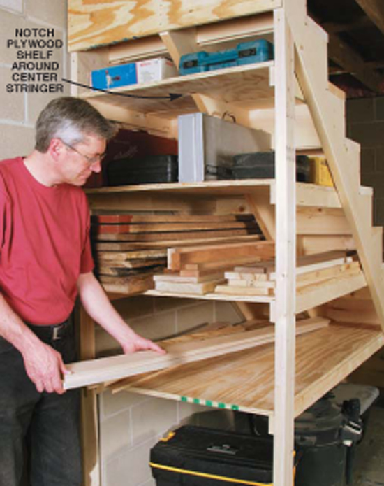 Behind The Stairs Storage Popular Woodworking Magazine