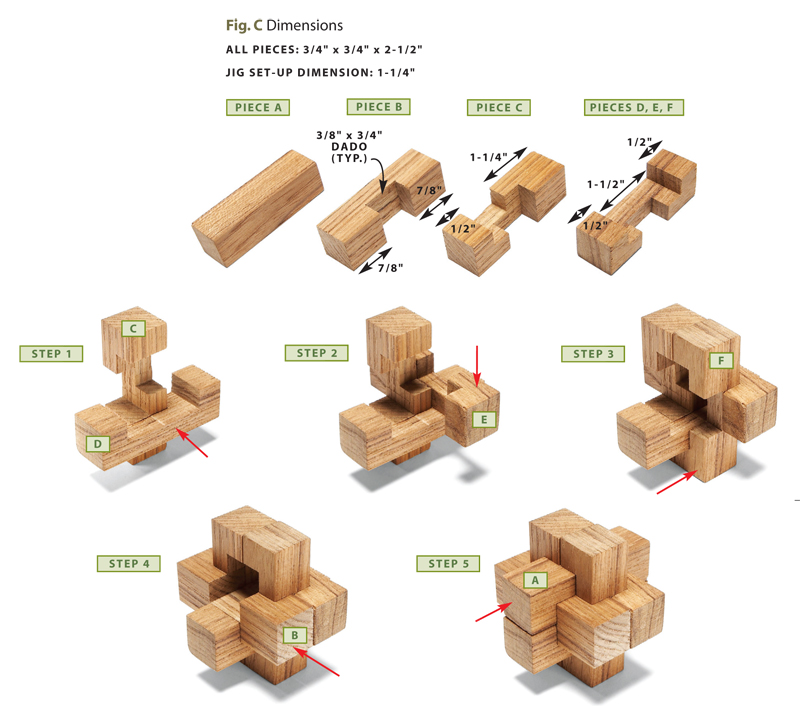 Wooden Burr Puzzles Popular Woodworking Magazine