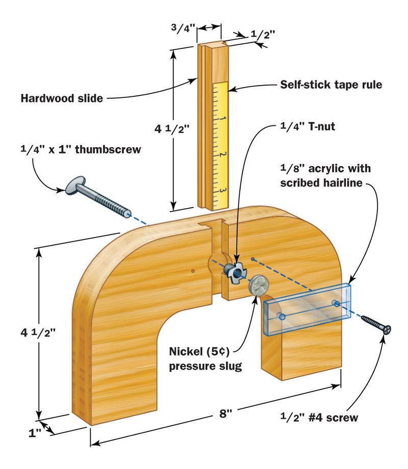 depth gauge jig