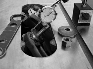 check table saw flange for runout