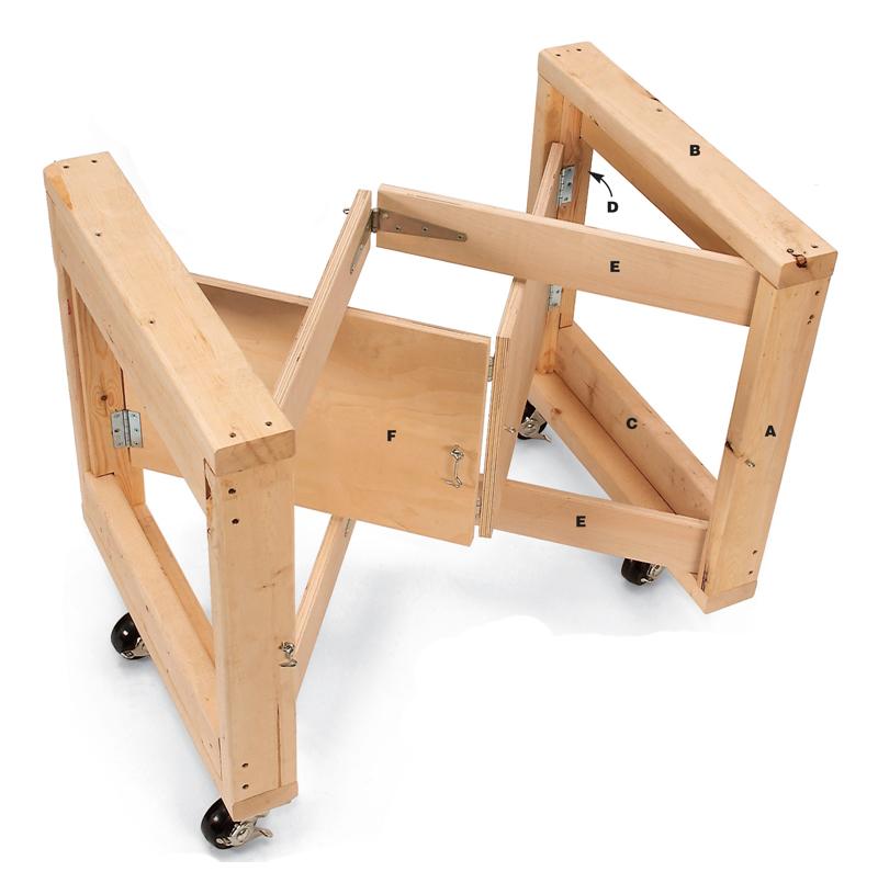 Workshop Tips Folding Table Base Popular Woodworking Magazine