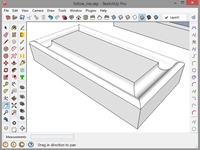 An Extruded Shape Using The Follow-Me Tool