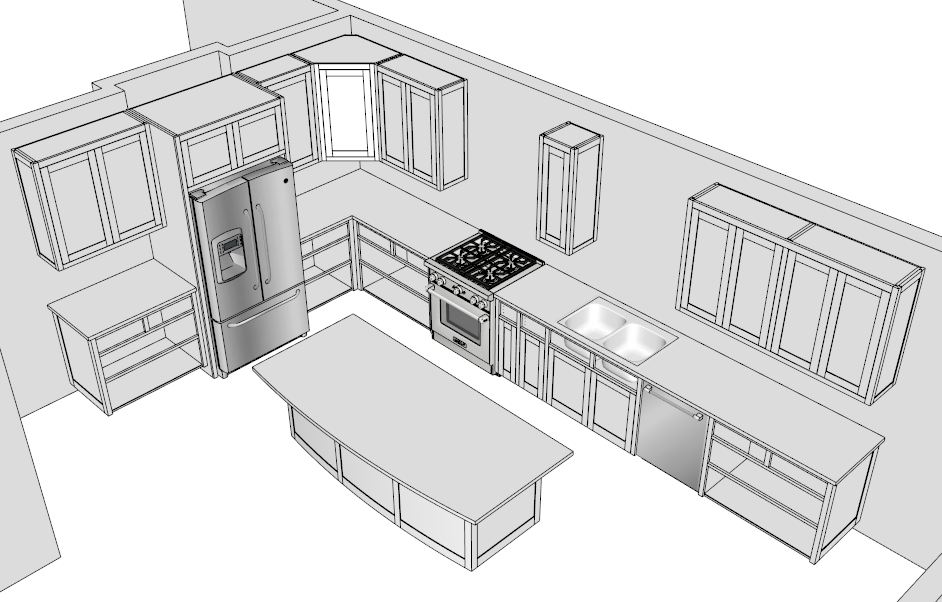 Sketchup Kitchen Cabinet Components