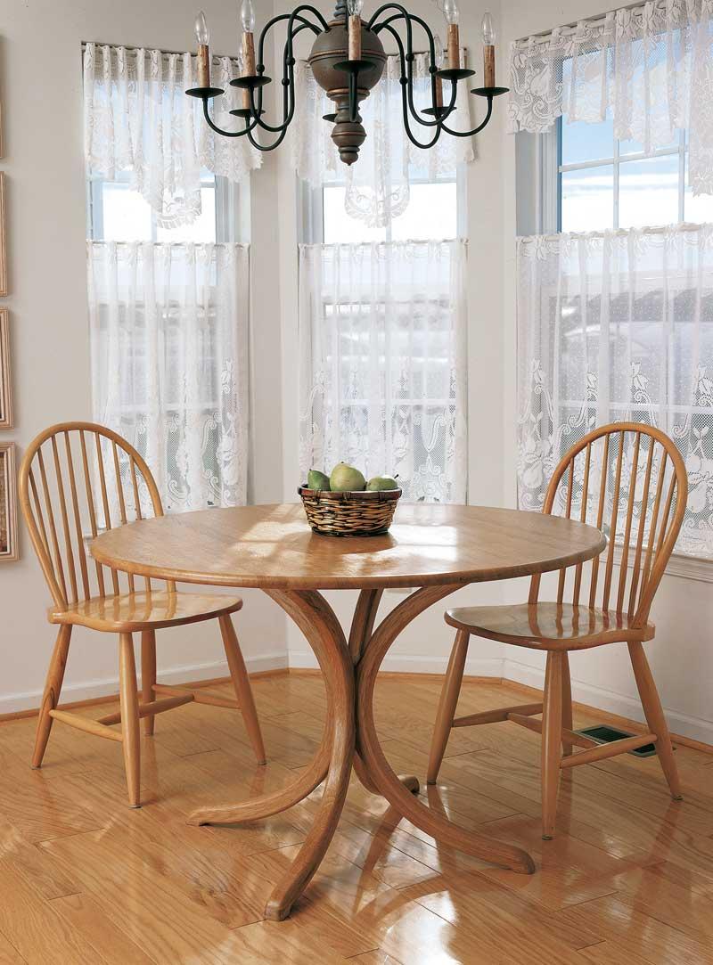 Laminated Pedestal Table - Popular Woodworking Magazine