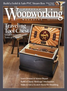 Popular Woodworking Magazine August 2015 Cover