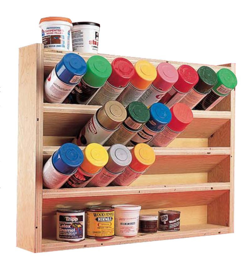 Wooden Toolbox Spray Paint